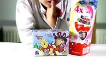 6 Surprise Eggs 2 Winnie The Pooh and 4 Kinder Surprise Disney Princess Eggs