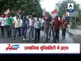 Osmania University students protest in Hyderabad over Telangana State demand