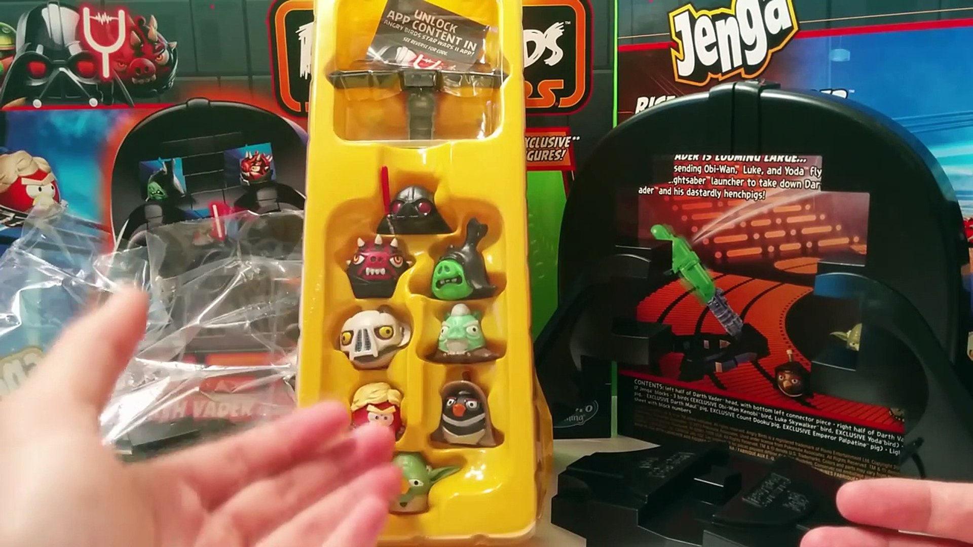 Jenga Angry Birds Star Wars Rise Of Darth Vader Game Review Collect 8 Figures Video Dailymotion