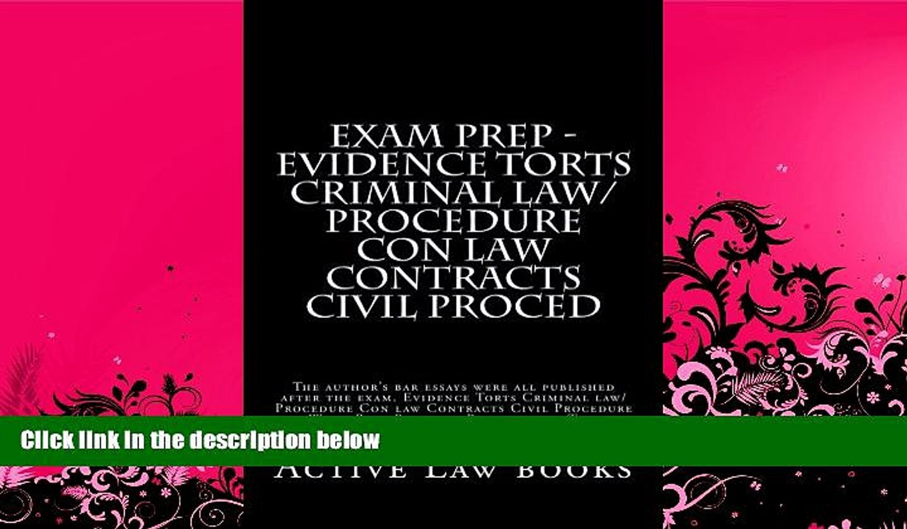 Read Online Active Law books Exam Prep - Evidence Torts Criminal  law/Procedure Con law Contracts