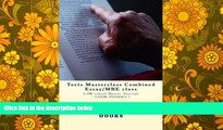 Price Torts Masterclass Combined Essay/MBE class: LAW school Master Tutorial - LOOK INSIDE!! !