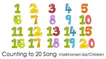 Counting Songs 1 20 for Children Numbers to Song Kids