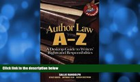 Buy Anthony Elia Author Law A To Z: A Desktop Guide to Writers  Rights and Responsibilities