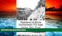 Price Fondamenti di Diritto Costituzionale 75% Saggi: No More Law School Tears (Italian Edition)