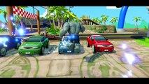 HULK vs GREY HULK vs SPIDERMAN + Funny Race with Disney Pixar Cars Rayo McQueen + Nursery Rhymes