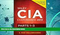 Price Wiley CIA Exam Review 2013, Complete Set (Parts 1 - 3) S. Rao Vallabhaneni On Audio