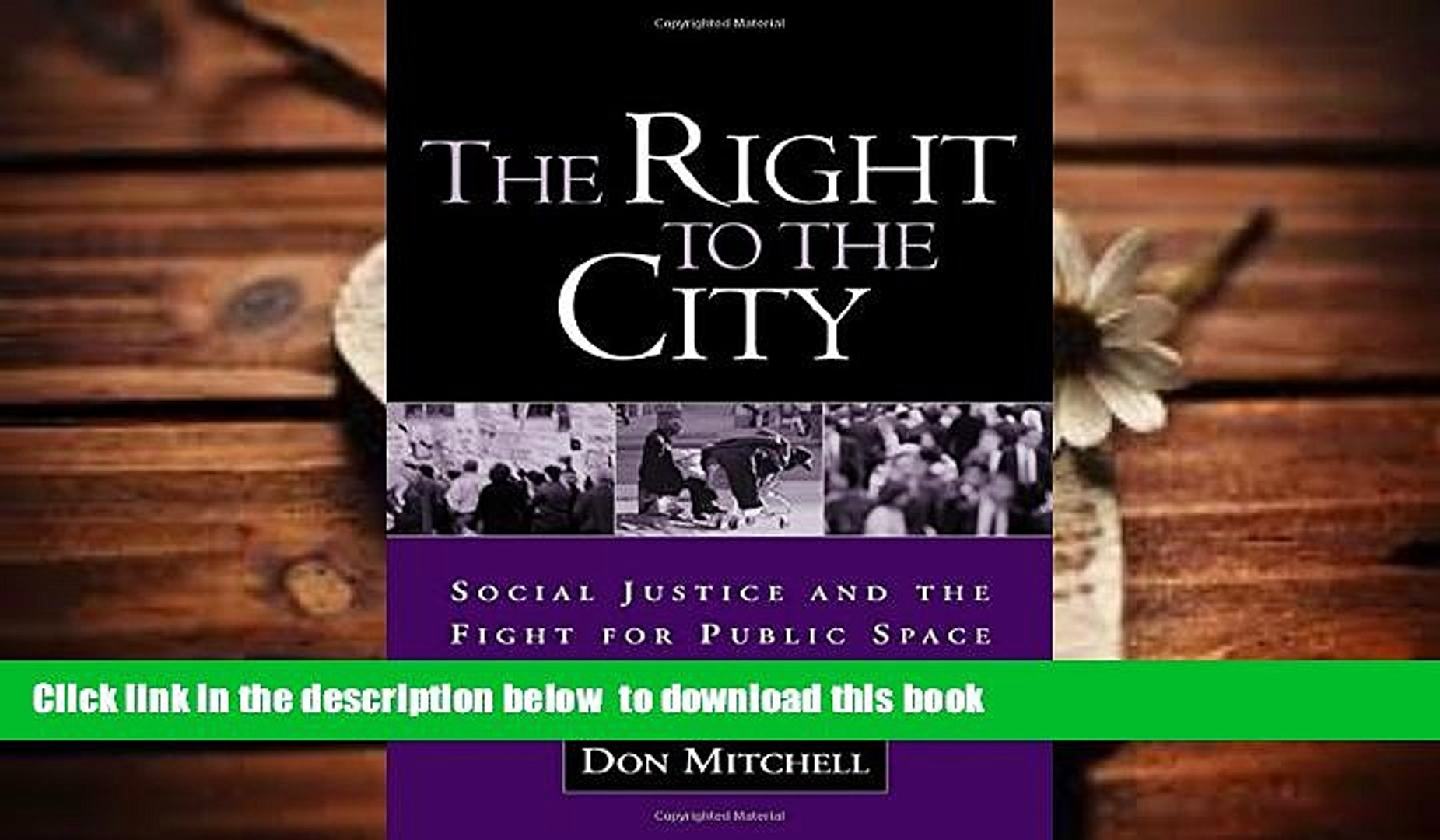 PDF [FREE] DOWNLOAD  The Right to the City: Social Justice and the Fight for Public Space BOOK