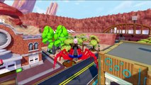 The Wheels On The Bus Go Round & Round Nursery Rhymes | Spiderman And Hulk, Groot Super Heroes Fun