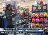 Arizona Cardinals' Larry Fitzgerald gives kids shopping spree