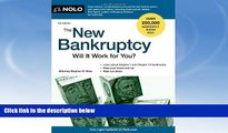 Buy NOW  The New Bankruptcy: Will It Work for You? Stephen Elias Attorney  Book