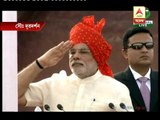 PM Narendra Modi hoisting flag on independence day