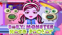 Baby Monster High Nose Doctor Games to play for girls # Play disney Games # Watch Cartoons