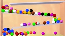 Learning Colors With 3D Color Balls Game, Teaching Colours ...
