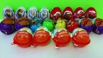 20 Surprise Eggs - Kinder Joy, Disney Frozen Pixar Cars, Choco and Angry Birds