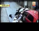 See the visual how a car thrashed 5 people in few moments