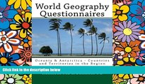 Pre Order World Geography Questionnaires: Oceania   Antarctica - Countries and Territories in the