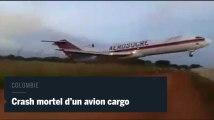 Les images du crash aérien en Colombie