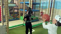 STARWARS BABY DARTH VADER vs STORMTROOPER Playing with Ball // If You are happy - Nursery Rhyme
