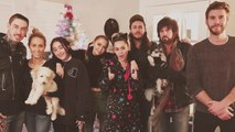 Miley Cyrus and Liam Hemsworth Enjoy Holiday Time With the Cyrus Family
