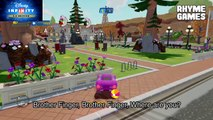 Disney PIxar Cars 2 Holley Shiftwell in ToonTown - Finger Family Daddy Finger Nursery Rhymes