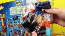Duplo Lego Batman Superhero in Batwing at Batcave in Adventure Parody with Catwoman Legos