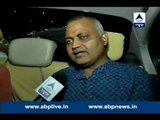Somnath Bharti reaches Dwarka north police station with his dog