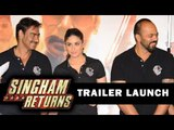Ajay Devgn, Kareena Kapoor Khan And Rohit Shetty Attend Trailer Launch Of 'Singham Returns'