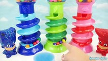 PJ Masks Doll Bubble Gum Game with Gumball Candy Slime Toys LEARN COLORS for Preschoolers