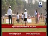 Duchess of Cambridge Kate Middleton plays cricket with children in Mumbai