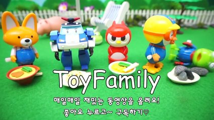 Brush Pororo's teeth with a Pororo toothbrush Play Pororo and Magic Color Sand play