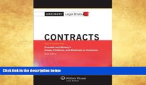 Buy  Casenotes Legal Briefs: Contracts Keyed to Crandall   Whaley, Sixth Edition (Casenote Legal