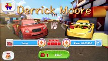 Cars: Fast as Lightning NEON RACING! Long Ge vs Chick Hicks, Miguel, Max, Sheriff, Fillmore