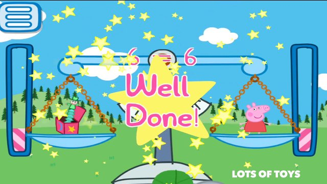 Learn to Add Balance the Scale Peppa Pig, George, Daddy Pig Go Shopping GAME