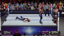 WWE Raw smack Down  AJ Styles vs James Ellsworth & Dean Ambrose - Handicap Match - WWE SmackDown Full HD