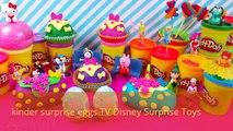 Playdoh Surprise Eggs Kinder Surprise Toys Disney Frozen Elsa Toys Peppa pig Cars toys 2