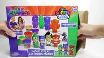PJ Masks DIY Play Doh Create PJ Masks Superheroes Catboy Owlette Gekko and Evil Romeo
