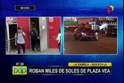 San Borja: delincuentes roban miles de soles en supermercado