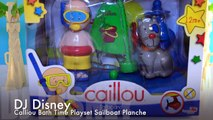 Caillou Bath Time Playset Sailboat Planche a Voile Toy Review