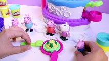 Peppa Pig Play Doh Cake Mountain Playset Sweet Shoppe Peppas Birthday Cake Dough Set Plastilina