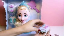 FROZEN Elsa Styling Head How To Comb Elsas Hair DIY Hairbrush Hairstyle Dolls Elsas French Braid