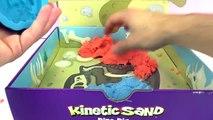 KINETIC SAND DINOS UITGRAVEN! In het magische zand naar fossielen zoeken! Kinetisch zand mengen!