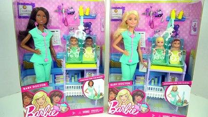 Barbie Doctora de Bebes Cuida a Recien Nacidos con Dr. Elsa y Anna - Juguetes de Titi