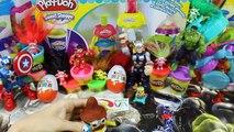 Kinder Joy Surprise Eggs Disney Frozen Elsa Minnie Mickey Play-Doh MARVEL Huevos Sorpresa