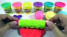 Learn Colors Play Doh Balls Peppa Pig Baby Molds Fun Ice Cream & Creative for Kids Rhymes