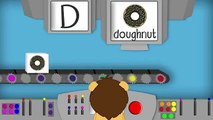 THE LETTER D - Phonics for Kids Alphabet Sounds PHONICS MACHINE ABC Sounds Kindergarten Preschool
