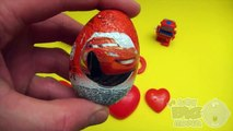 Disney Cars Surprise Egg Learn A Word! Spelling Valentines Day Words! Lesson 10