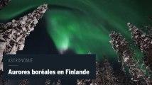 Envoûtantes aurores boréales au-dessus de la Finlande