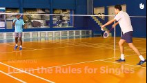 How To Play Badminton  Badmimton Singles Rules  Rules of Badminton