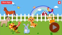 Learning Farm Animals Sounds | Farm Animals Names and Sounds | Animals on the Farm for Preschool