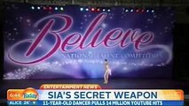 Maddie Ziegler Interview at Today Show - About Being In Sia's Music Video -Chandelier